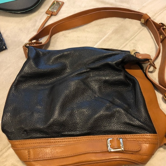 BLACK//BLACK LEATHER BUCKET BAG NWT VALENTINA ITALIAN LEATHER